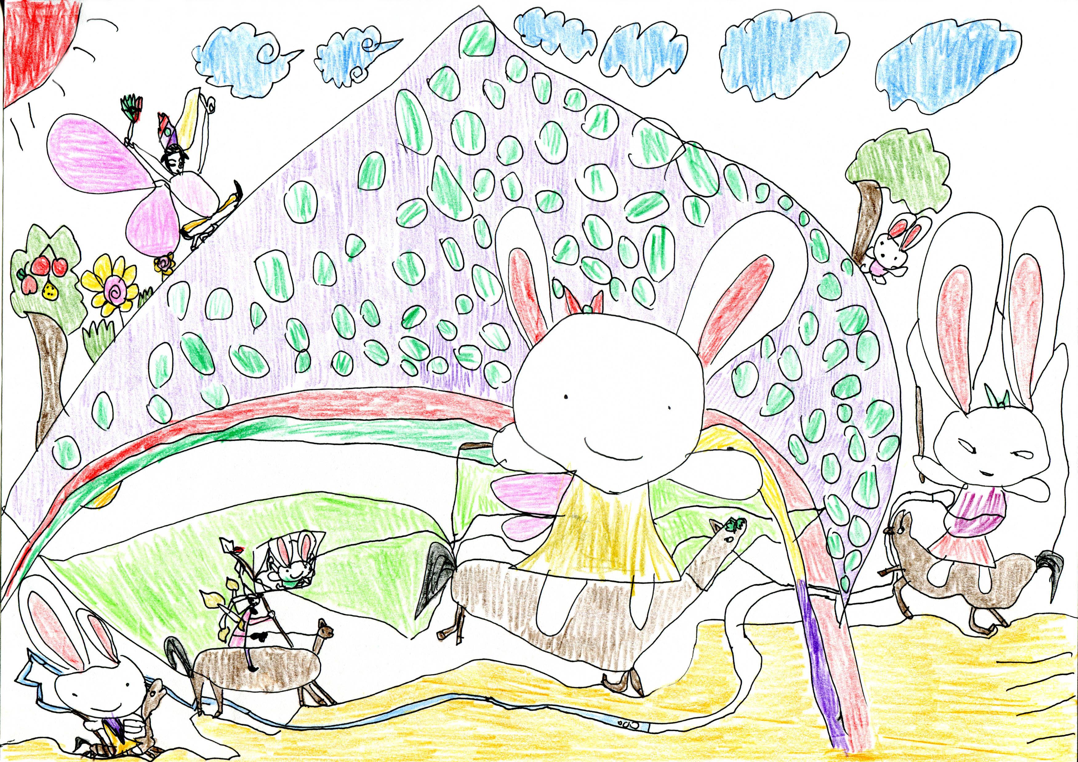 朝鲜半岛地图兔子