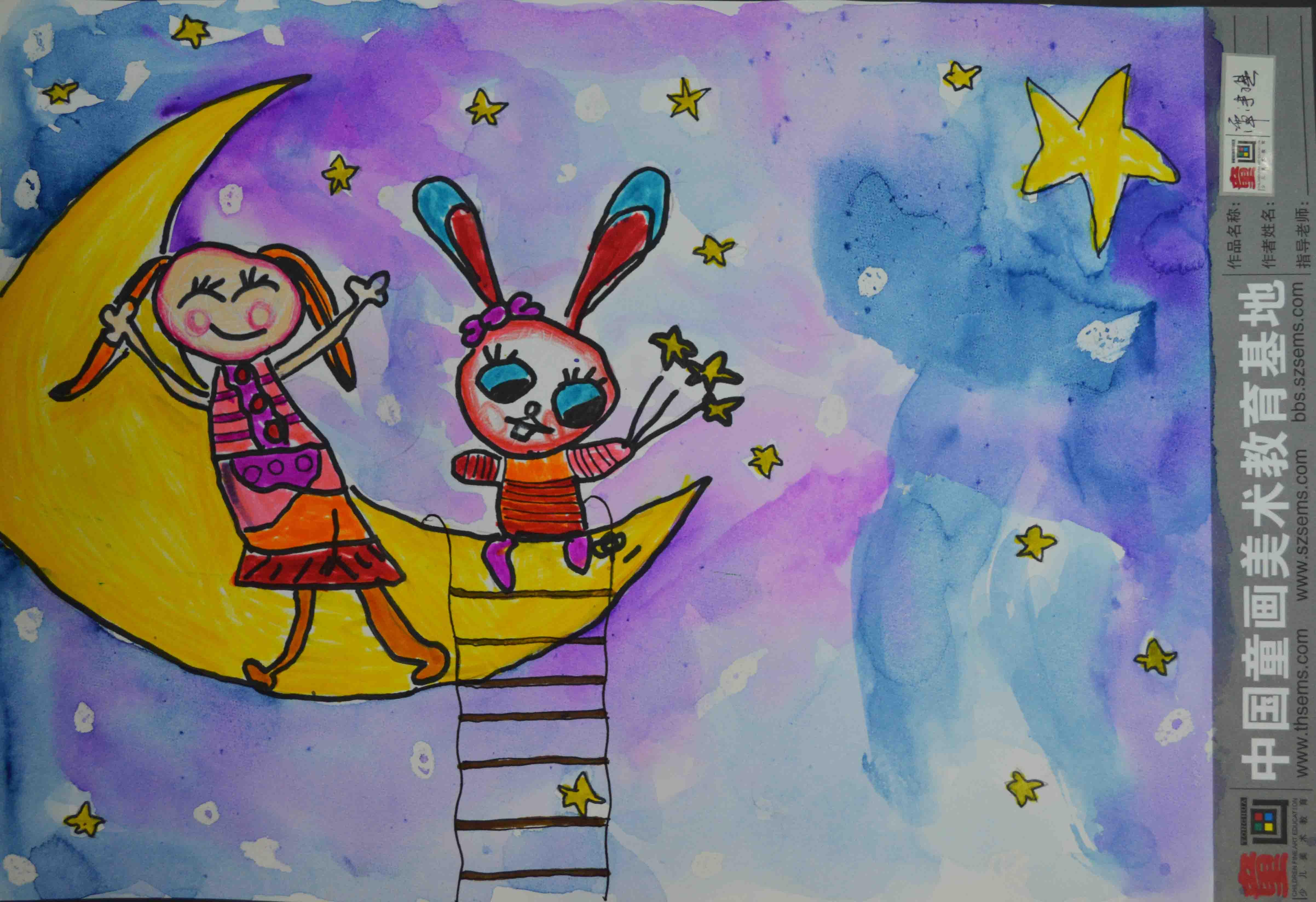 安奈儿第四届全国亲子创意大赛_月亮兔子我_育儿网图片